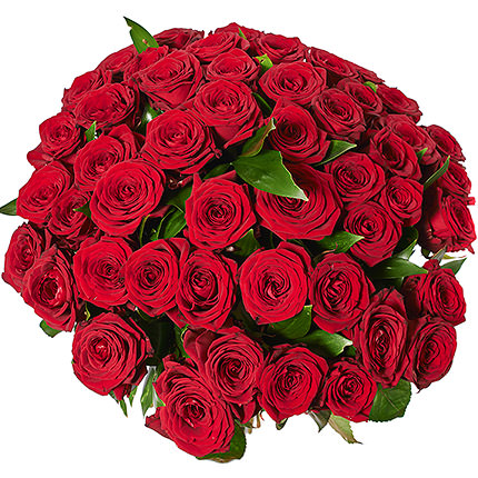 51 red roses with teddy bear - order with delivery