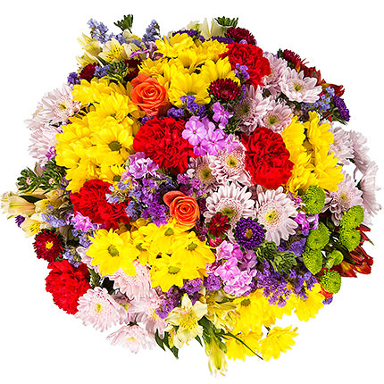 "Bright bouquet ""Artist's colours"" - order with delivery"