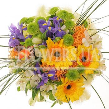 Сборный букет цветов - доставка по Украине