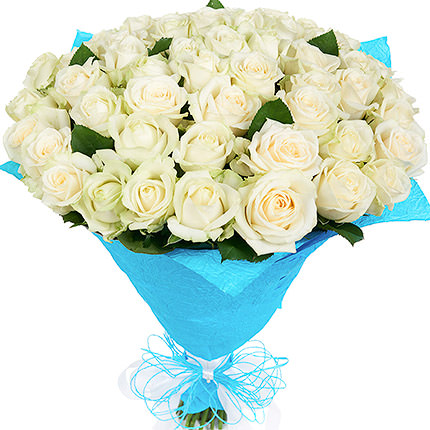 51 white roses - delivery in Ukraine