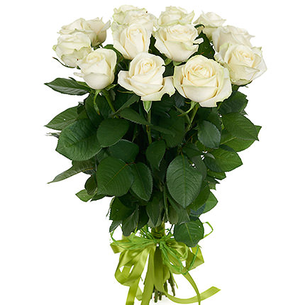 "Bouquet of white roses ""Dearie"" - delivery in Ukraine"