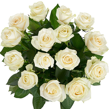 "Bouquet of white roses ""Dearie"" - order with delivery"