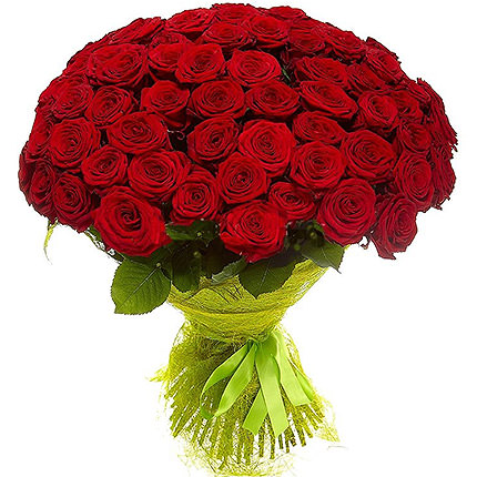 75 червоних троянд - доставка по Україні