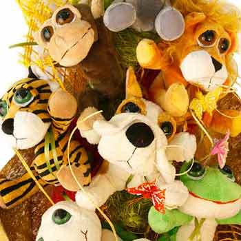 Букет игрушек - доставка по Украине
