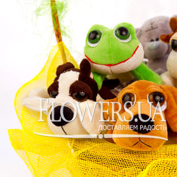 Basket of soft toys - order with delivery