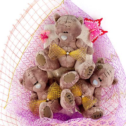 """Букет іграшок """"Маленькі ведмедики"""" - доставка по Україні"""