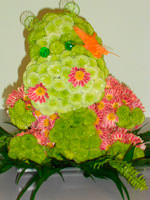 Hippopotamus of flowers