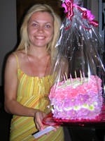 Квітковий тортик