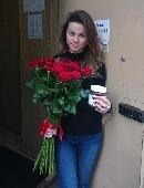 25 красных роз + Nutella