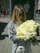 Біла троянда (поштучно)