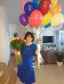 101 multi-colored roses