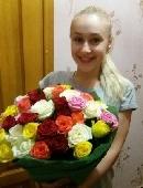 51 різнокольорова троянда