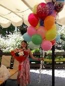 25 разноцветных гелиевых шариков
