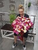 151 multi-colored roses