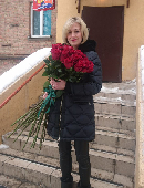 Giant bouquet of roses