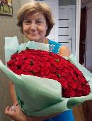75 червоних троянд