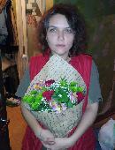 Збірний букет квітів (зелена хризантема)