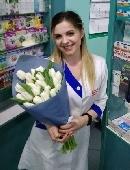 25 білих тюльпанів