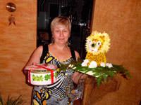 Львенок из цветов