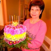 Цветочный тортик