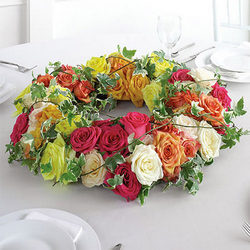 "Composition on the table ""Flower Wreath"""