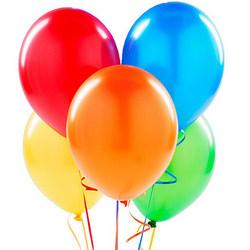 5 різнокольорових гелієвих кульок