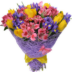 "Romantic bouquet ""Purple Haze"""