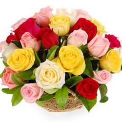 "Basket of roses ""Felicita"""