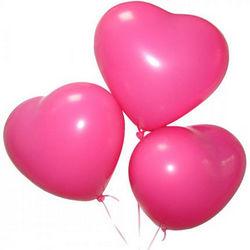 3 гелиевых шарика (розовые сердца)