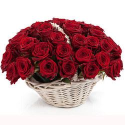 """Basket """"51 scarlet roses"""""""