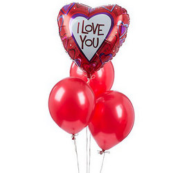 "Mix of balloons ""For beloved!"""