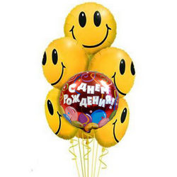 7 фольгированных гелиевых шариков