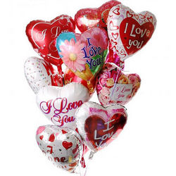 "11 foil balloons ""I love you"""
