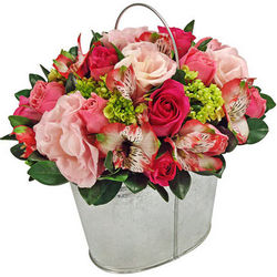 "Bouquet in a pot ""Gift from romantic"""