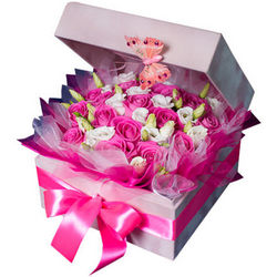 "Flowers in a box ""For beloved"""