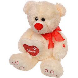 Ведмедик білий (з бантом і серцем)