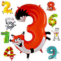 Balloons in shape of numbers (animals)