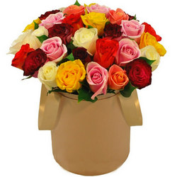 """Цветы в коробке """"Незабываемый подарок"""""""