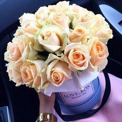 """Цветы в коробке """"Все о любви..."""""""