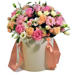 """Цветы в коробке """"Лучшей девушке!"""""""
