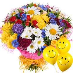 "Bouquet ""Summer miracle"" with balloons"