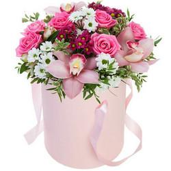 "Цветы в коробке ""Незабудка"""