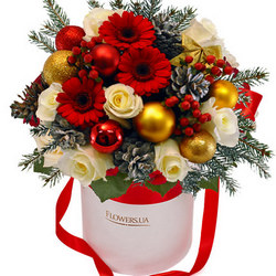 """Composition in a box """"Winter Flowers"""""""
