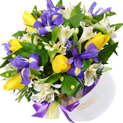 """Цветы в коробке """"Ты - моё чудо!"""""""