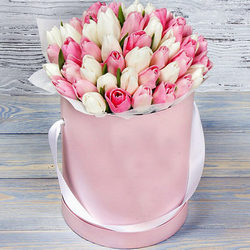 """Квіти в коробці """"Рожева хмаринка"""""""