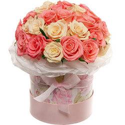 """Цветы в коробке """"Нежное чувство!"""""""