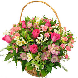 "Basket ""Summer flowers"""
