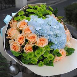 "Romantic bouquet ""Warm meeting"""