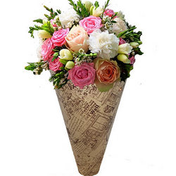 "Bouquet in the cone-package ""Fairy tale"""