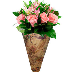 "Bouquet in the cone-package ""Romantic Provence"""